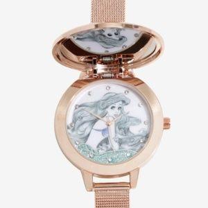 Disney Watch LITTLE MERMAID  Ariel flip mirror